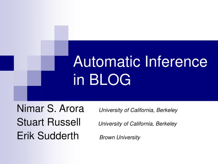 automatic inference in blog n.