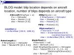 blog model blip location depends on aircraft location number of blips depends on aircraft type