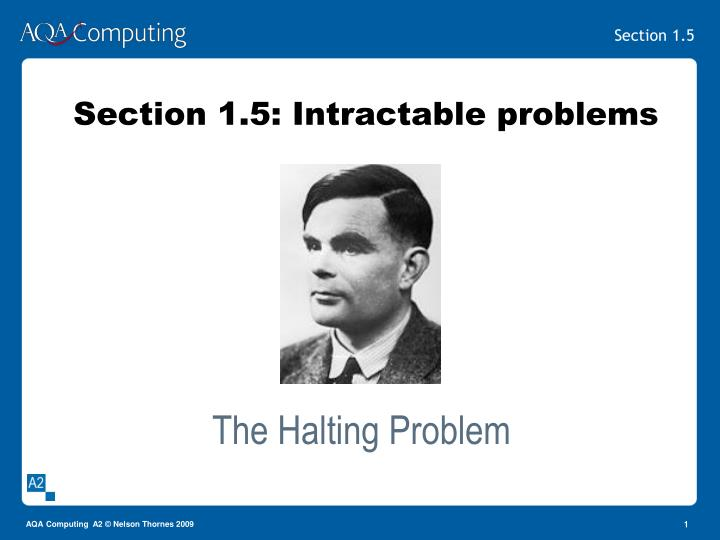 Section 1 5 intractable problems