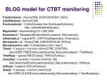 blog model for ctbt monitoring