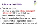 inference in oupms