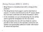 being human bbc3 2009