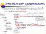 express es com quantificadores1