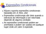 express es condicionais