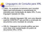linguagens de consulta para xml