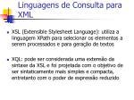linguagens de consulta para xml1