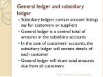general ledger and subsidiary ledger