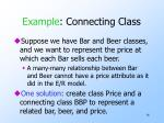 example connecting class