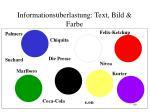 informations berlastung text bild farbe