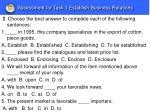 assessment for task 1 establish business relations1