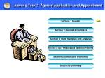 learning task 2 agency application and appointment