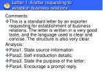 letter 1 a letter requesting to establish business relations1