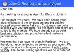 letter 2 request to act as an agent