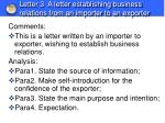 letter 3 a letter establishing business relations from an importer to an exporter1
