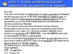 letter 4 a letter establishing business relations from an exporter to an importer