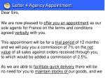 letter 4 agency appointment