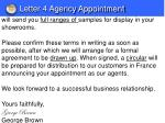 letter 4 agency appointment1