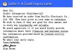 letter 5 a credit inquiry letter