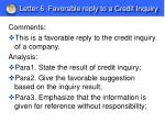 letter 6 favorable reply to a credit inquiry1