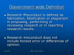 government wide definition