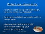 protect your research by