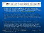 r office of research integrity