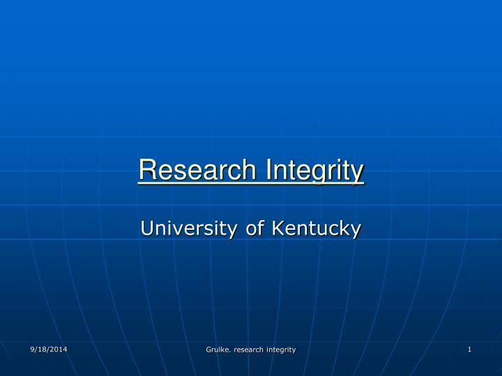 research integrity n.