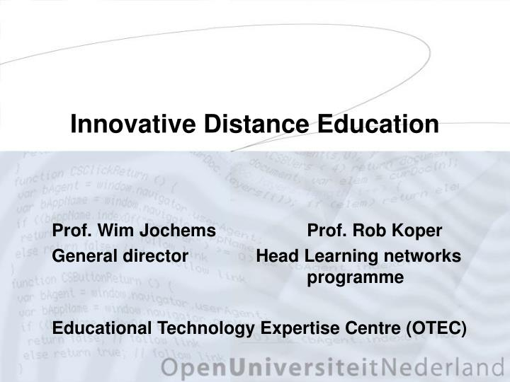 innovative distance education n.