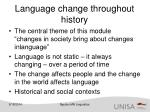 language change throughout history