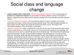 social class and language change