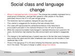 social class and language change1