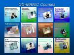 cd manic courses