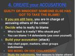 4 create your accusation