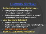 7 history on trial