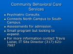 community behavioral care services