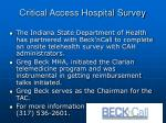 critical access hospital survey
