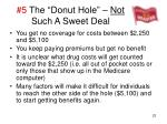 5 the donut hole not such a sweet deal