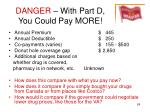 danger with part d you could pay more