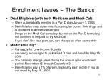 enrollment issues the basics