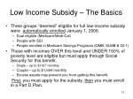 low income subsidy the basics
