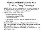 medicare beneficiaries with existing drug coverage