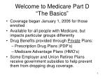 welcome to medicare part d the basics