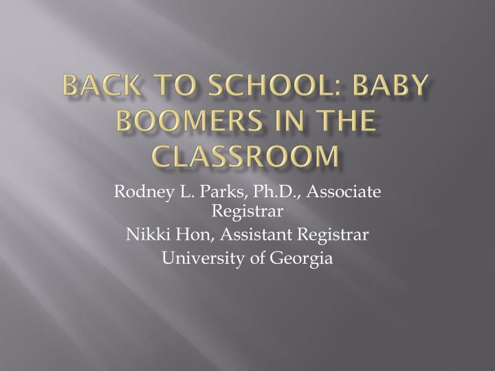 back to school baby boomers in the classroom n.
