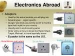 electronics abroad