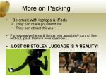 more on packing
