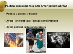 political discussions anti americanism abroad