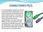 conectores ps 2