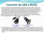 convertir de usb a rs232