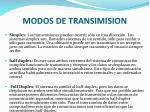 modos de transimision