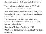 group discussion pick one topic 5 10 mins